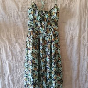 Hollister Floral Spaghetti Strap Dress